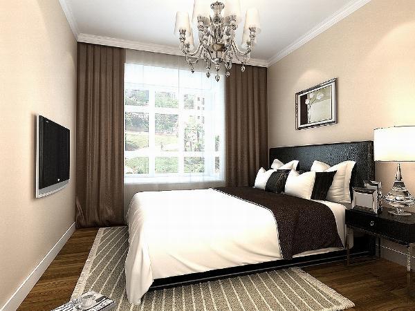 主卧的床头背景墙是用画为主,墙体是以橘色乳胶漆为主。