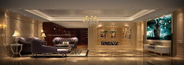 欧式别墅精装客厅