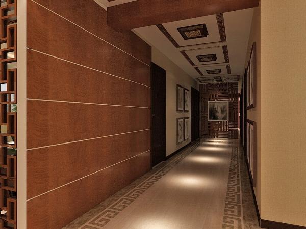 首先从入户进入,入户门处左侧有放置鞋柜衣柜的空间。方便业主的进出穿戴