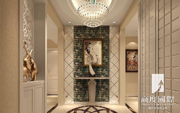 天府世家-120平方米-欧式风格|高度国际---门厅