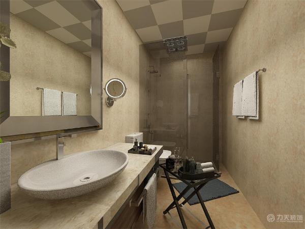 卫生间内做了一个淋浴房,总会起到一些地面不完全湿好清洁的作用