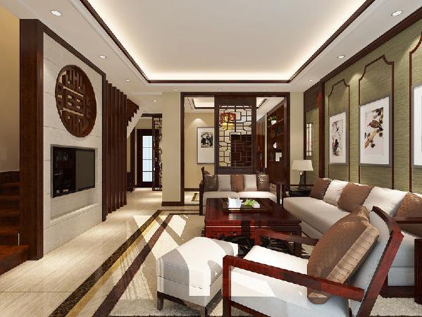 恒大金碧天下-中式风格----客厅
