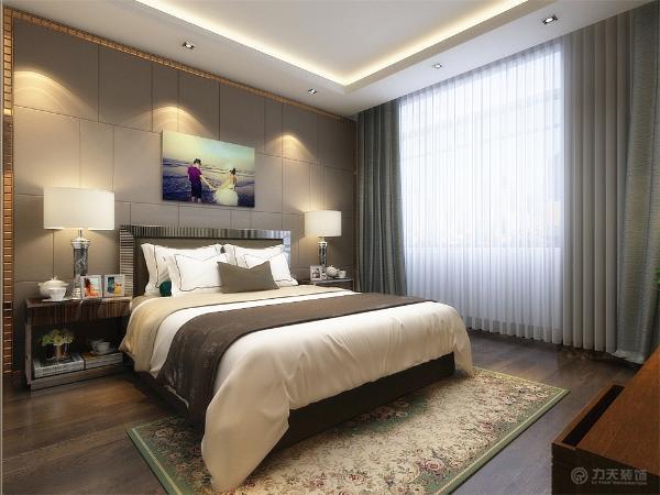卧室位于户型最里端,配有大衣柜,具备很大的储物空间,卧室为住户休息提供良好的环境。
