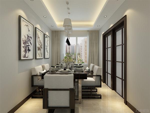 客厅与餐厅相对,比较透亮。体现了H户型的优点,也规避了H 户型的缺点。