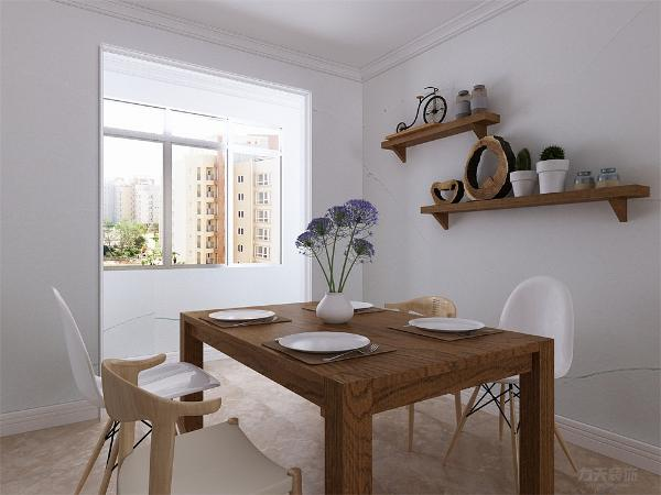 餐厅用餐环境安静且光线通透,舒适的用餐环境增加舒适度。客厅与餐厅会形成过堂风,起到冬暖夏凉的效果。