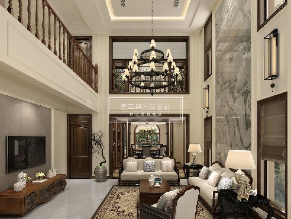 金科廊桥水乡别墅 新中式风格 430平米 成都紫苹果装饰 设计咨询:18228939660