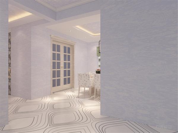 白色和明亮玻璃的结合创造出了现代的洁净与明亮。在卧室的设计中,同样我们采用了木色的木地板与现代壁纸相结合,