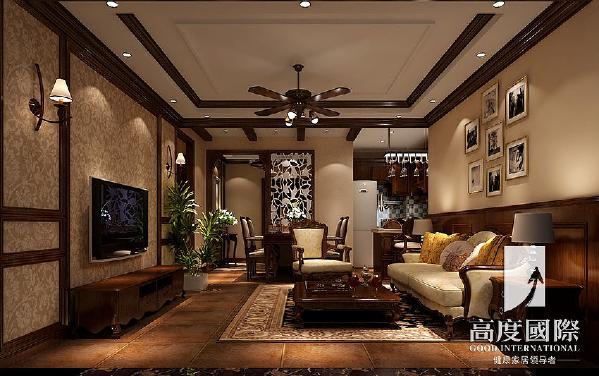 两江国际—美式风格---客厅