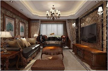 三居室保利叶公馆123平美式风格