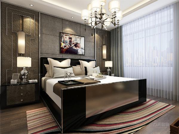 卧室位于最里端,卫生间邻近卧室,方便户主入厕,卧室整体会给人一种现代干净舒适的感觉。整套设计方案为住户营造了一个舒适美观的居住环境。