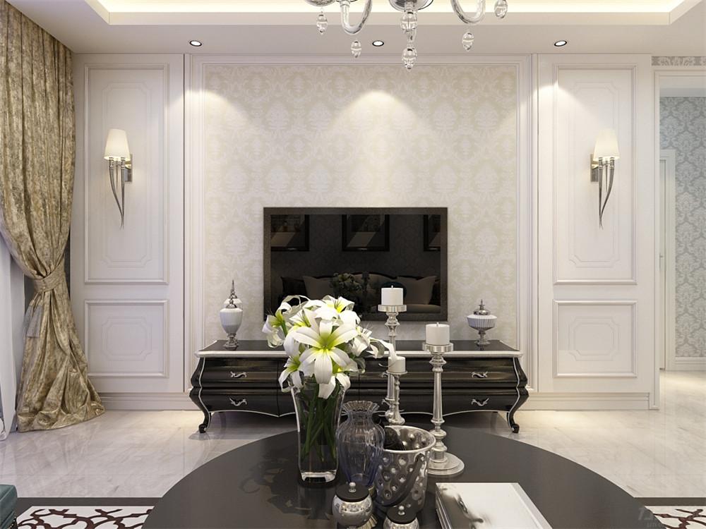 欧式 二居 收纳 小资 客厅图片来自阳光力天装饰在欧式风格-金隅悦城-93㎡的分享