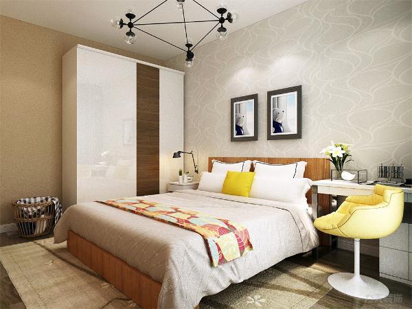 在次卧的设计上我们采用了清新的搭配,使得整个房子,丰富多彩,适合更多的选择。整体设计给人以一幅现代生活的感觉。