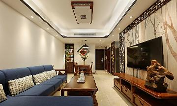 110平现代中式3居 融合自然舒适