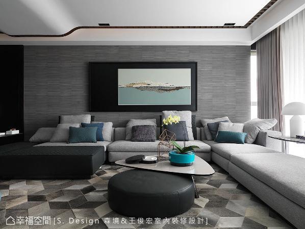 开阔敞朗的空间,是三代同堂的必要条件,森境&王俊宏室内装修设计更将生活形态与设计美学转化为视觉意象,挥洒在这间大宅之中。