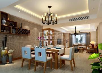 紫苹果装饰 中海金沙府 新中式