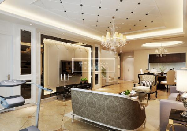 成都紫苹果 家装设计 别墅装修 整体软装 欧式 三居 别墅 旧房改造