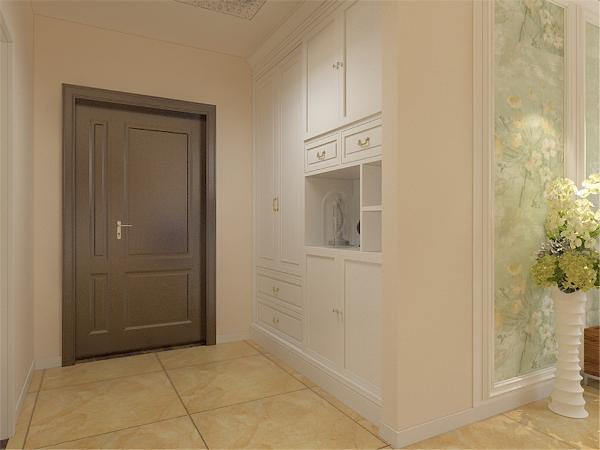 玄关有储物壁橱,合理利用了玄关空间节省了储物空间