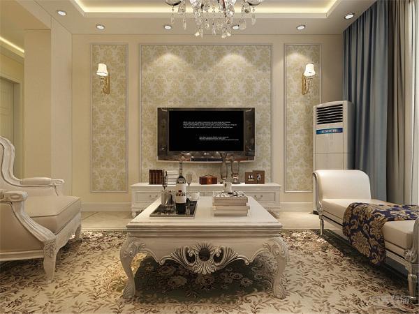 沙发采用的是皮质的欧式感觉的,加上华丽的水晶灯,浓烈的烘托出华丽的气息,同时皮质的沙发在生活中非常便于打理。