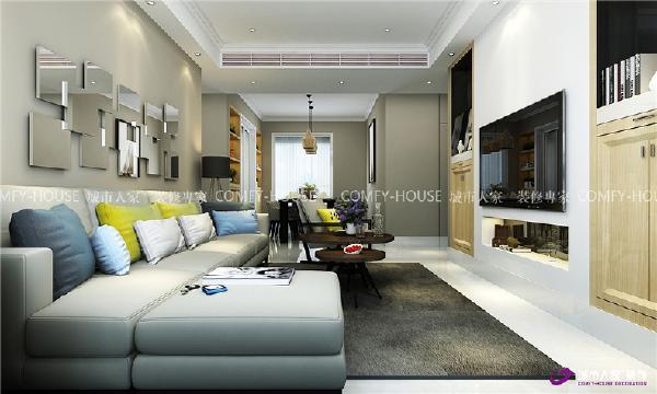 财富中心143㎡三室两厅现代简约装修效果图