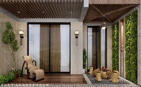三居 中式 阳台图片来自厦门居众装饰设计工程有限公司在中铁元湾-中式风格-170㎡的分享