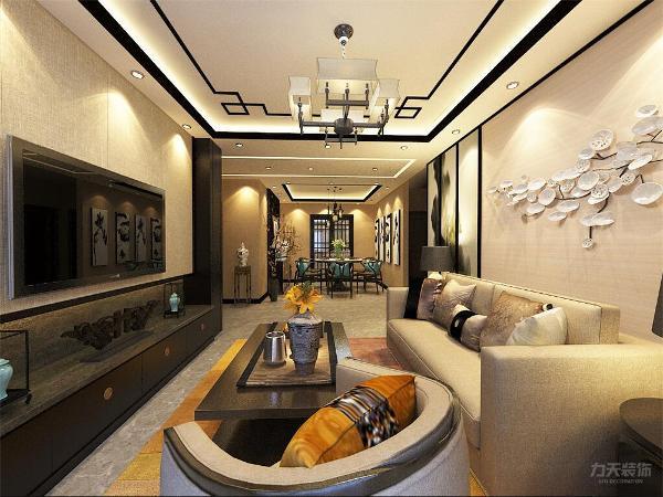 本次设计风格是新中式富力尚悦居两室两厅一卫110㎡。中式风格比较注重古典古香的基调、家具与装饰的搭配。在古代的设计中加入现代元素,也可以把主人的个人喜好和品位加进去,满足现代人的居住需求。