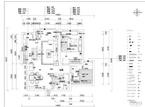 本案是心泽园84平米两室两厅一厨一卫,该户型南北通透,布局合理,拥有良好的通风以及采光,入户门在北面,室内采光主要都在南面。从入户门开始,进入房间后左边是餐厅,餐厅的位置跟厨房的距离只隔了一个冰箱