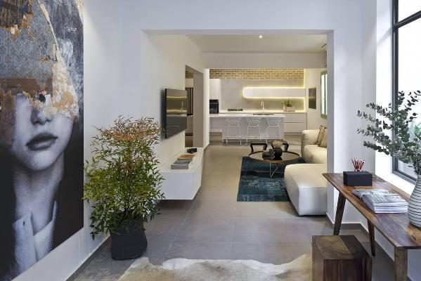 简约欧式二居三居旧房改造客厅装修效果图片_装修美图