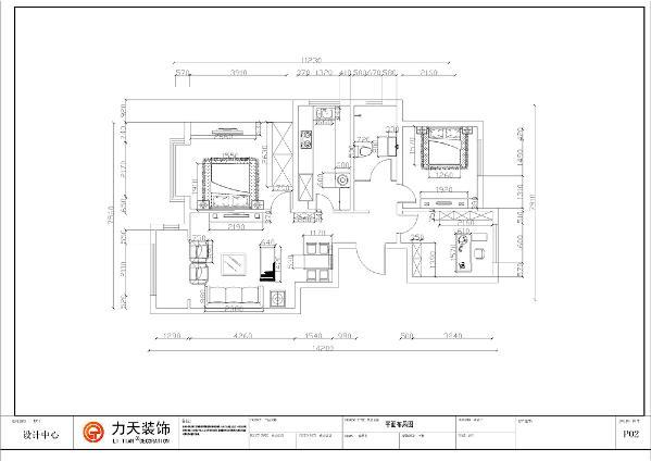 本户型为中浩智城一期高层标准层C户型三室两厅一卫100平方米。
