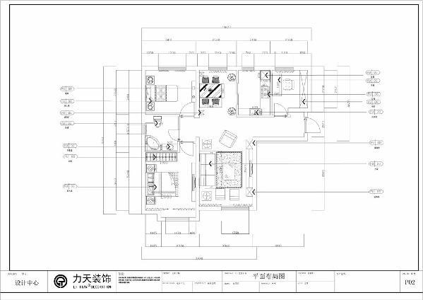 本户型为 远洋城户型图C户型106㎡ 三室二厅一卫。