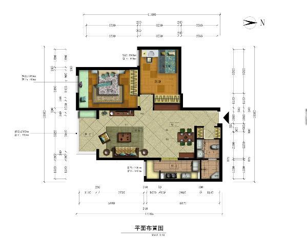 立志于打造实用舒适的空间,首先进门处通过改动墙体,使其重新划分区域,并且保证每个空间的方正性。第二将原来衣帽间一分为二,两边储物,一面用于定制酒柜,一面定制衣柜,即保证客厅的美观,又扩大出次卧的空间。