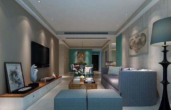 客户需求(客厅):希望客厅不能太淡然,但又不能太奢华。 此案例中以白色地砖搭配浅灰色的墙面,且在电视背景与沙发背景墙区域做了简单的黑白相搭为造型,使得房间更突出重轻色的感觉。