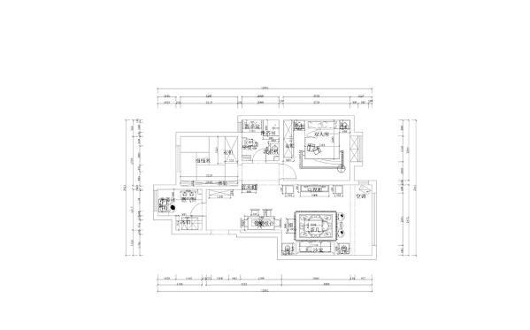 本案为首创暖山两室两厅一厨一卫93㎡.此户型总体结构来说是很规矩的,布局也相对合理,无论从房体结构上来说,还是从整体采光布局上来说都是很不错的