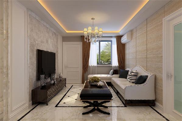 客厅的电视背景墙彰显了客户的个性与品位,装饰线凸显立面的立体效果,以简约的线条代替复杂的花纹,客厅沙发墙壁以木板素色为主,木质格纹给整个客厅带来一股自然清新之风