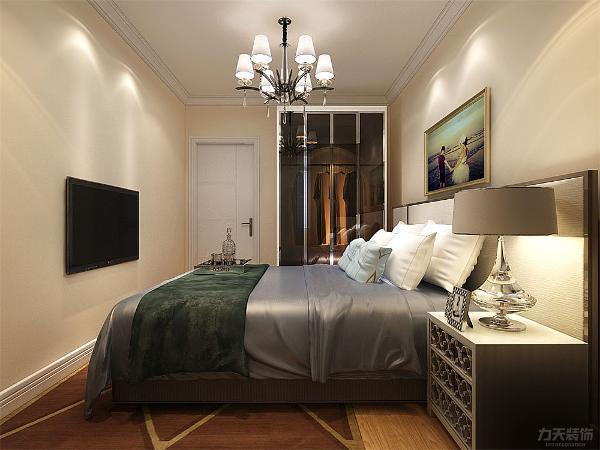 卧室墙面都使用淡咖色乳胶漆。造型也是以简单为主,使得空间明朗大气。又不失舒适感,整体设计效果出来给人感觉简单大气,家居摆放也以实用为主