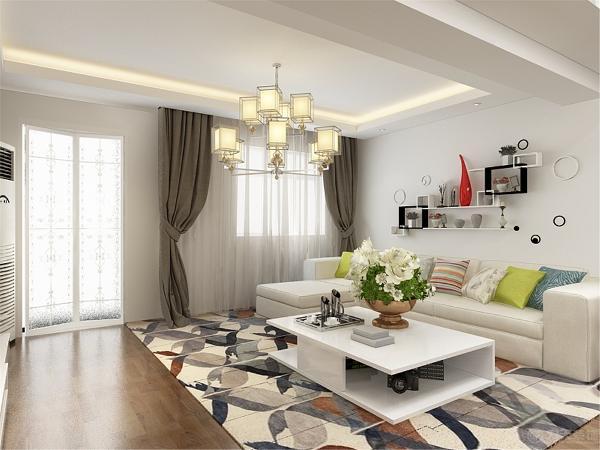 客厅装修是整个家庭装修的重点。 由于有了重点的电视背景墙,所以其他地方的装饰可以简单点,,用简单的颜色饰品来做简单的点缀!但会客区的沙发作用很重要,他的造型和颜色会直接影响到客厅的风格。