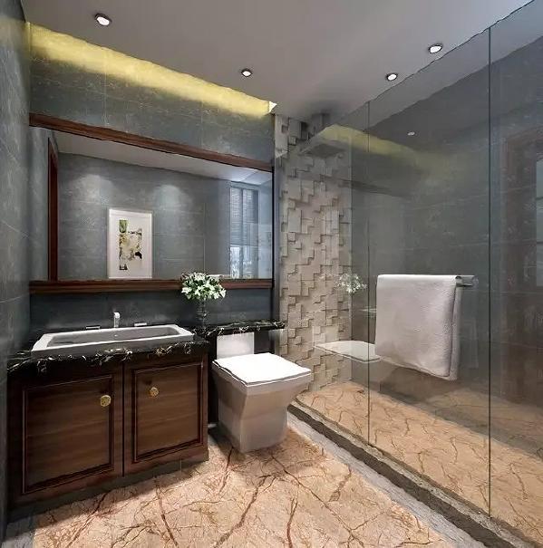 客卫利用淋浴房形成干湿分离