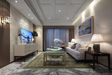 成都89平米三居室简约风格