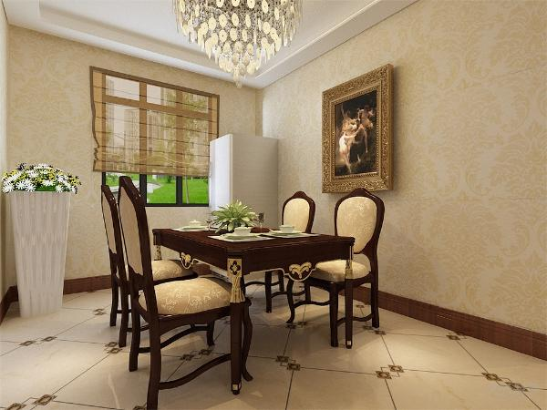 餐厅和客厅的位置,餐厅位于过道左面,与厨房相连,方便就餐