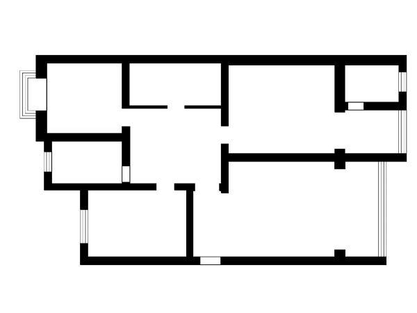 平面户型图本案设计师以混搭为主题,采用中式家具与欧式家具二者结合,运用简单的造型和元素点缀。选用木地板为主色调烘托一个家的氛围和文化底蕴。