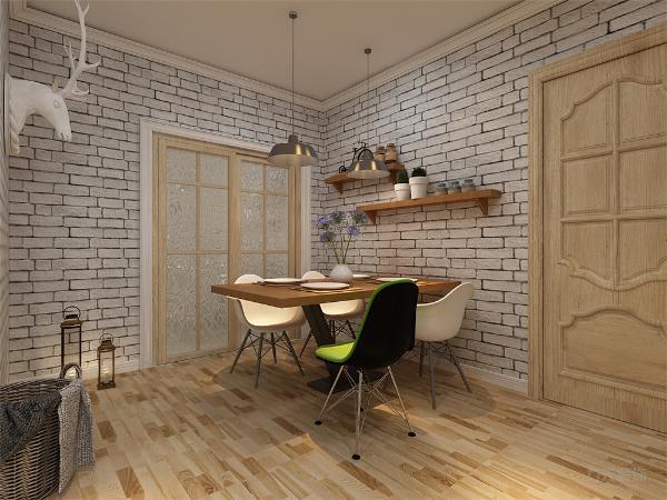 餐厅与厨房相邻,餐厅的设计非常简单,只是在配饰上点燃了整个风格。