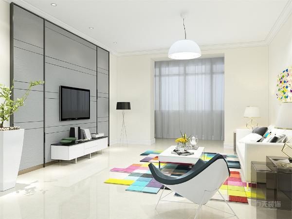 客厅设计我们采用动线合理的布置,交通设计流畅,使我们更好的利用空间。创造一个温馨,健康,引领潮流的家庭环境。地毯的彩色拼块展现出业主的年轻潮流的品味,具有时尚大胆的感觉。