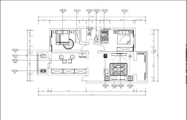 翠韵园两室两厅一厨一卫 107㎡,本案及风格为现代风格,现代式的设计希望业主体验到舒适自然,本户型较为规整,面积适中,布局舒适,尺度宽松,动静分区