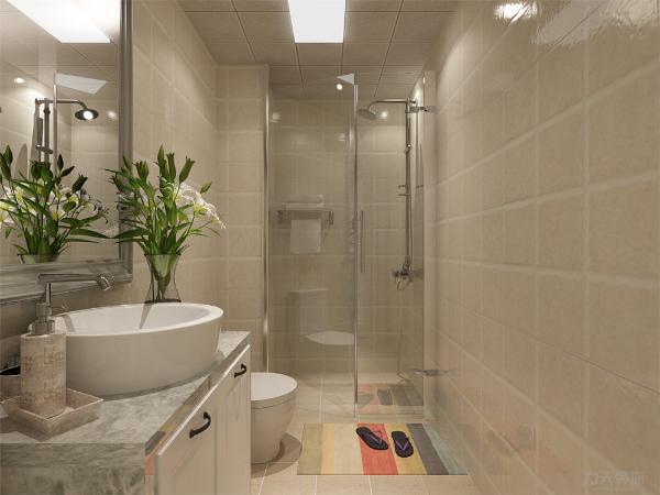 卫生间有浴室房的设计多少起到了干湿分离的作用不会让卫生间地板那么湿