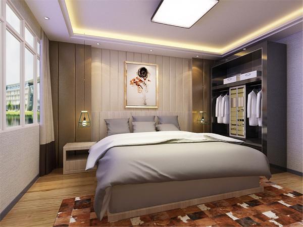 主卧室的空间比较宽敞而且采光相对较好,顶部的叠级吊顶起到一定的修饰作用,书房整体简洁大气,为业主及家人提供办公休闲的场所。