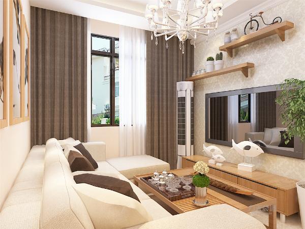 客厅与餐厅是整个在一个空间的格局。通过沙发背景墙等装饰,使整个家庭色调精彩。沙发墙运用壁纸配合照片墙的表现形式和各种装饰的表现形式,更加彰显业主的品味与内涵。