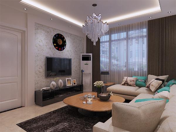 客厅沙发背景墙采用了石材作为装饰,使整个家庭色调精彩。沙发墙运用壁纸配合照片墙的表现形式和各种装饰的表现形式,更加彰显业主的品味与内涵