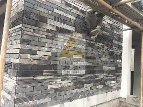 中式 砖瓦 外墙 别墅 简约 其他图片来自磊富马赛克-材料肌理研究在古镇风情别墅外墙项目的分享