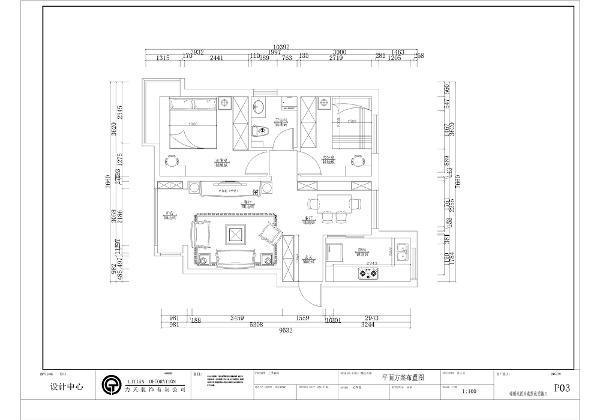 入户门进入是玄关的位置,玄关的右手边是厨房的位置,厨房为L型橱柜,布局合理,动线清晰。厨房的前方是餐桌的位置,餐桌为四人餐桌,靠墙放置,足足满足房主的生活需求。 入户门左边是起居室的位置