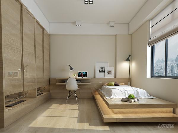 主卧的设计以宽敞明亮为主调,所以墙面以镜子做装饰,这样空间就更大了,卧室也能更明亮。