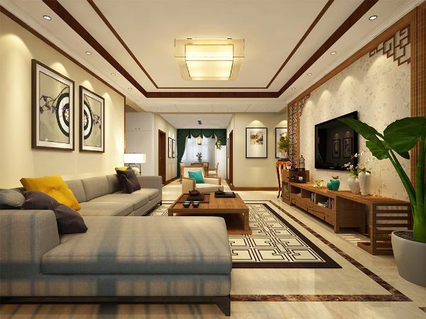 现代中式风格更多地利用了后现代手法,墙上挂一幅中国山水画等传统的书房里自然少不了书柜、书案以及文房四宝。